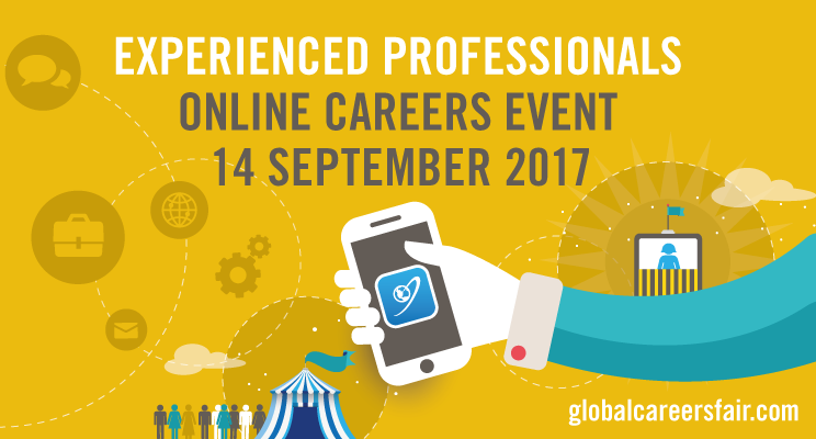 Global Careers Fair - Thursday 14 September. Online for Experienced Professionals in Global Development
