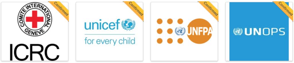 ICRC, UNOPS, UNICEF, UNFPA